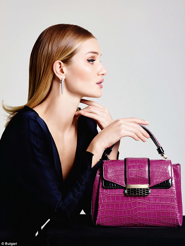 The Devon-born beauty, 29, stuns in a collection of classy images for Bulgari's latest Fall Winter 2016 Accessories Collection