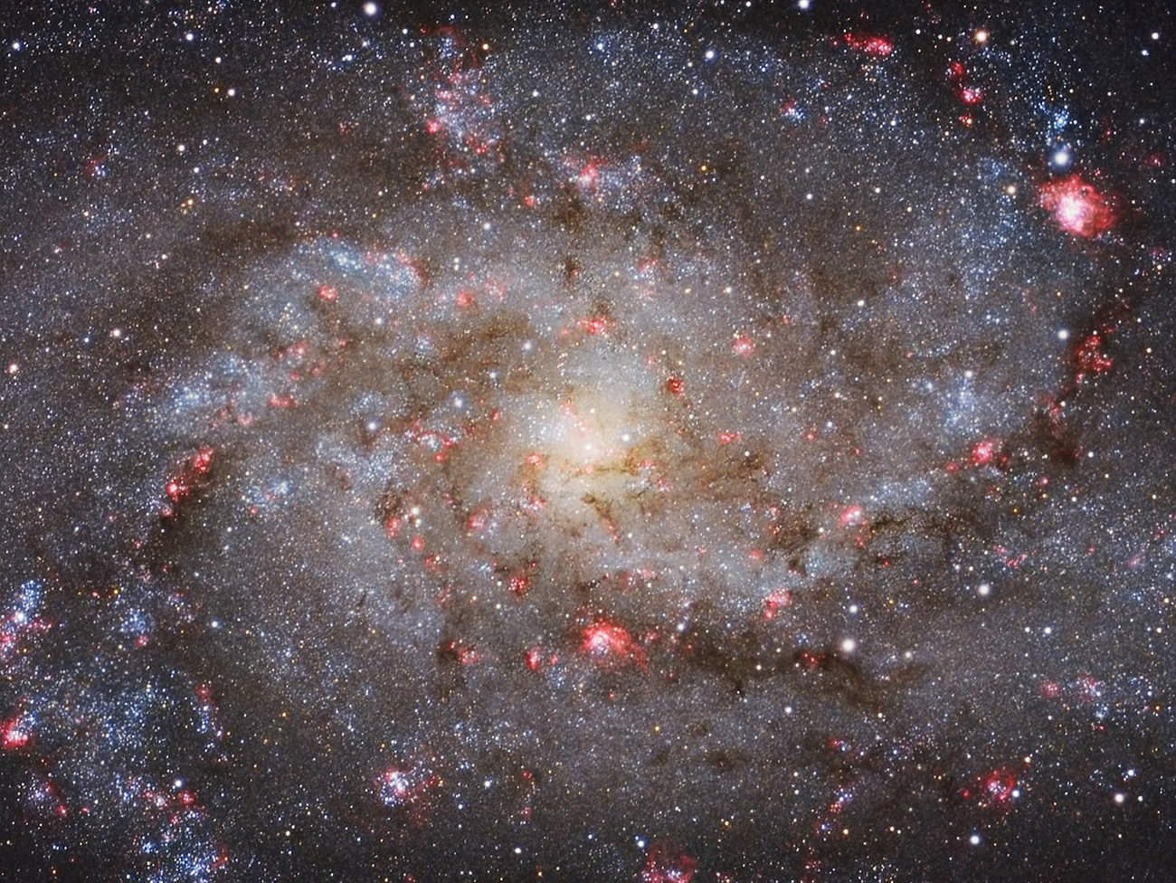 This glorious image of the core of Local Group galaxy Messier33 was captured from Almere, Flevoland, Netherlands by astrophotographer Michael van Doorn using a Celestron C11, ASA Reducer telescope lens, SXVR-H18 camera, 2156mm f/7.7 lens. Image credit: © MichaelvanDoorn.