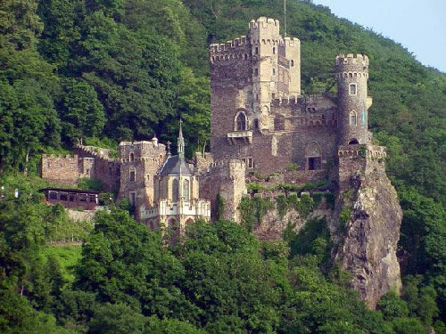One of many centuries-old castles sits on the Rhine River between Rudesheim and Koblenz, Germany. Riverboat cruising in Europe has exploded in popularity with travelers from around the world. (File, Doug Walker, RN-T.com)