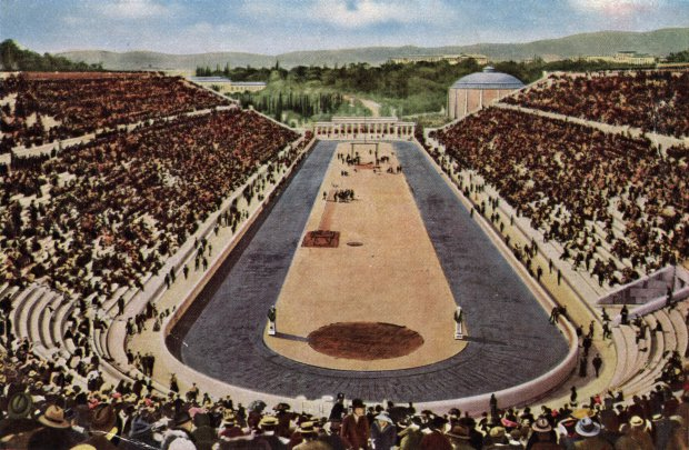 Google doodle: History of the Olympic games and how Britain made it global. 1896: The Olympic stadium in Athens built by the Greek philanthropist Averof for a cost of one million drachmas. It was the scene of the 1896 games. (Photo by Hulton Archive/Getty Images)