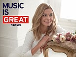 Flying the flag: The Welsh singer appears in a poster for VisitBritain's latest tourist campaign