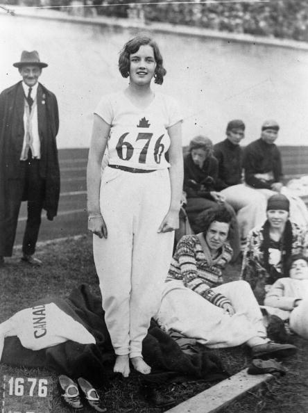 Ginger Hadley, the character who wins the high jump, seems to be modelled on actual gold medallist Ethel Catherwood ©Getty Images