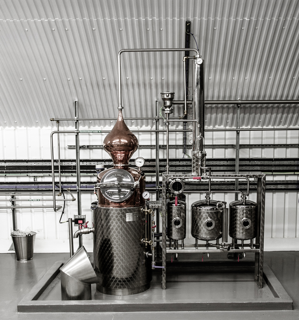 A section of the Our/London distillery