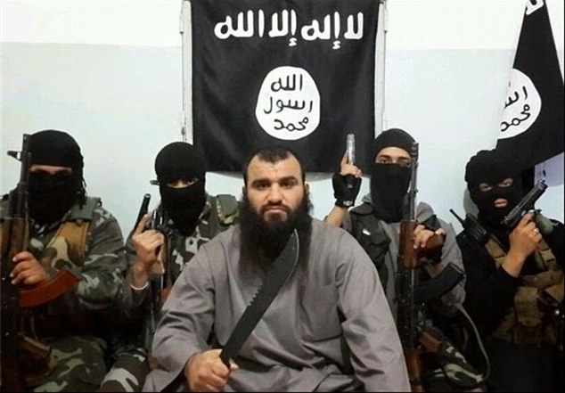 Islamic State: The same man has been previously been pictured alongside armed, masked fighters believed to belong to ISIS