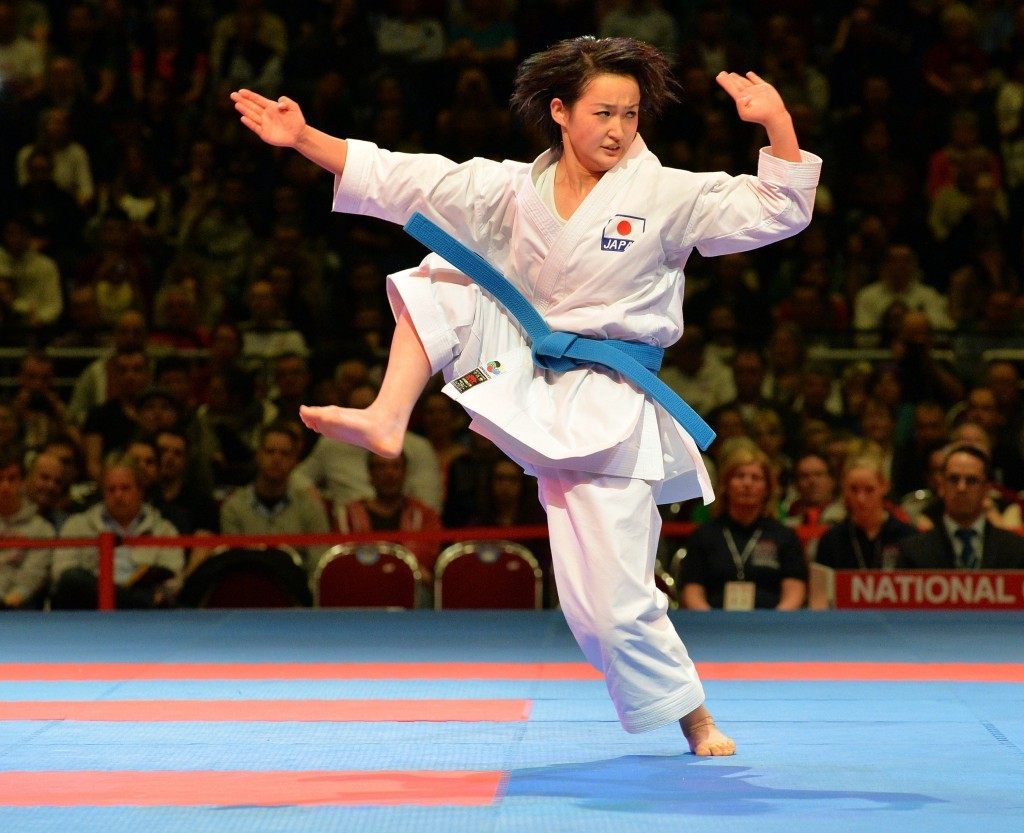 Reigning women's kata world champion Kiyou Shimizu will be hoping to earn gold in front of her home crowd