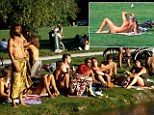 Nudists in Munich